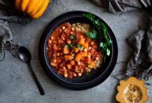 Chocolate Chilli Pumpkin Stew with Chickpeas